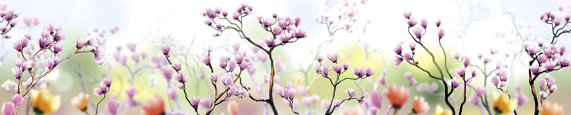 Фартук цветы сакуры